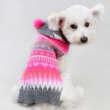 Free Shipping Cute Pet Christmas Sweater Patchwork Design Dog Clothes Hoodie Puppy Sweater Fashion Clothing for Dogs & Cats(China (Mainland))