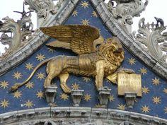 Italia Milan León de San Marcos. Basílica de San Marcos