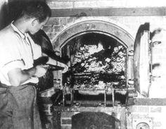 Dachau, Germany, The crematorium after the camp's liberation. - Yad Vashem Photo Archive