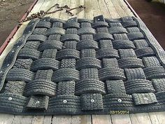 Rubber Mat 7'x7' Construction Ranch Farm Cattle Mining Oil Field Recycled Tires | eBay