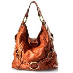 Isabella Fiore Quilted Carina Large Hobo Handbag Love