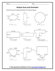 Year 4 Maths Perimeter Worksheet