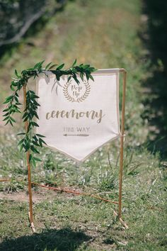 Pop Up Wedding Ceremony Sign. Decor by: Beth Duc Sparkle & Twine Venue: Oast House Brewers Photo by: Nataschia Wielink Wedding Ceremony Signs, Wedding Day, Twine, Pop Up, Sparkle, Place Card Holders, Floral, House, Beautiful