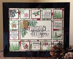Christmas Sampler by Inky Moose using various SU! stamps and the new Pretty Pines and Stitched Shapes thinlits.