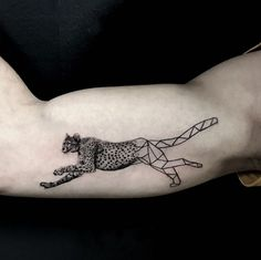 Cheetah tattoo by Resul Odabas