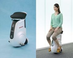 Honda's UNI-CUB mobility device is the butt of ASIMO's jokes
