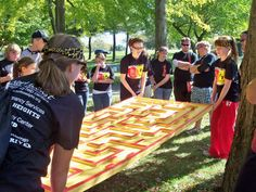 Large table maze challenge…how would one make this? ply wood with pieces of scrap wood                                                                                                                                                                                 More