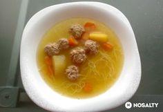 Húsgombóc leves Juditka konyhájából