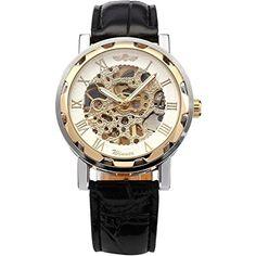 OrrOrr Winner - Herrenuhr - Automatik Uhr - Leder armbanduhr - weiß & Gold - http://autowerkzeugekaufen.de/orrorr/orrorr-winner-herrenuhr-automatik-uhr-leder-3