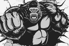 Angry gorilla by Mark2000 on @creativemarket