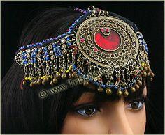 Tribe Nawaar Middle Eastern Dance Jewelry Kuchi Tribal Jewelry Head Jewel Large Tribal Belly Dance Headdress Renaissance Faire Belly Tribal Dance Jewelry Large Kuchi Afghani Tribal Jewelry Kuchi Head Jewel Large Tribal Belly Dance Renaissance Faire Bellydance Jewelry