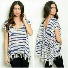Jill Marie Boutique Tops - Short sleeve boho chic tunic top Size Large 11/12