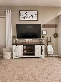 35 Best Minimalist Farmhouse TV Stand Ideas For Your Living Room Design. 35 Best Minimalist Farmhouse TV Stand Ideas For Your Living Room Design. living room decor ideas More info could be found at the image url. Living Room Tv, Home And Living, Tv Stand Ideas For Living Room, Decor For Living Room, Kitchen Living, Living Room Ideas With Tv, Living Room Country, Farmhouse Living Room Decor, Living Room Goals