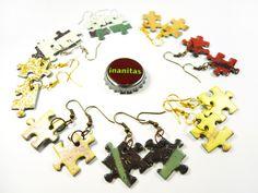 Ohrhänger aus original Puzzleteilen.