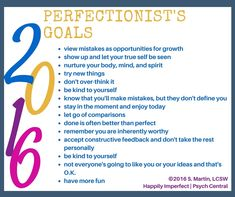Perfectionist Goals #goals #perfectionist