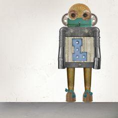 Robot Nic #robot #custom #wallsticker #decoration #adhesiu #kids #room