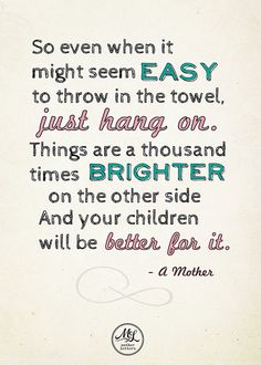 A Mother's Quote by motherletters, via Flickr