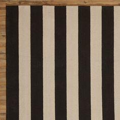 DwellStudio Draper Stripe Hand Woven Ink Outdoor Rug