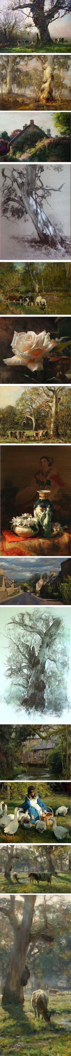 John McCartin, Australian artist, landscapes, still life, figures