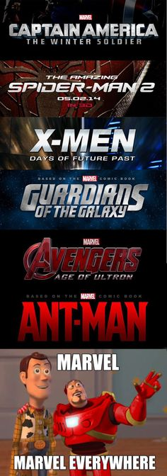 When I see the upcoming movies in 2014/2015. The only thing I'm not excited about is Spider-Man 2.