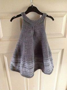 Stricken Ravelry: Violet Dress pattern by Shelby Dyas: Free pattern! I LOVE the grey yarn… – Stricken Knitting For Kids, Baby Knitting Patterns, Crochet For Kids, Baby Patterns, Knit Crochet, Crochet Baby, Toddler Dress, Toddler Outfits, Knit Baby Dress