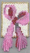 Free Pattern: Breast Cancer Awareness Ribbon. Pink Ribbon on white ground for Breast Cancer Awareness.