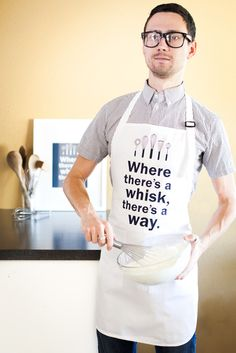"""Where there's a whisk, there's a way"" Apron at The Sweet Tooth Paper Goods Company"