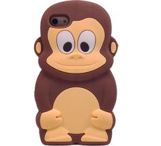 Amazon.com: Cute Animal 3D Monkey King Silicone Case Cover Skin ...