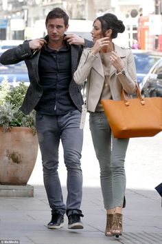 Casual couple: Frank Lampard and Christine Bleakley looked like their imminent move to New...