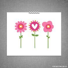 Flowers DIY Printable Digital Wall Art 5x7 8x10 11x14 by MissTiina, $3.00