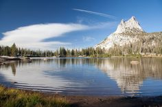 Cathedral Lake and Cathedral Peak, Yosemite National Park