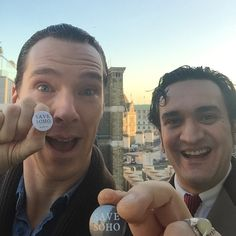 """""""Ben and me on a rooftop somewhere in central London 5 minutes ago. #savesoho #PreBAFTAS Good luck my friend. Txxx"""""""