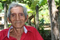 """Jose, 78, from El Salvador shares words of wisdom, """"In the world we live in, we must kneel down to praise our Lord and give thanks for everything we receive. Especially the gift of patience; this value is the one that holds me — patience to wait for better things to come."""""""
