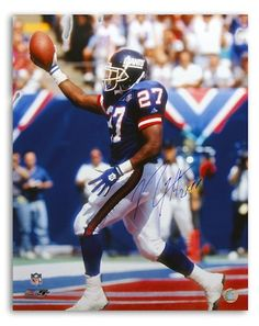 6c2c7d19f46 Autographed Rodney Hampton New York Giants 16x20 Photo Inscribed