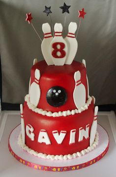 gallery of unique cakes | Bowling Cake - Custom Cakes by Kris