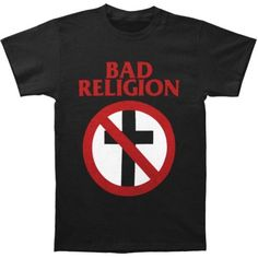 Bad Religion Men's Classic Crossbuster T-shirt Medium Black