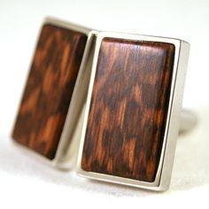 Mens Cufflinks Australian Snakewood  Wooden Cuff Links in by dfuss, $68.00