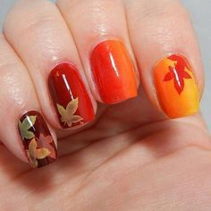 Happy Thanksgiving Nails 2019 : In this post, we tried our best to provide you the collection of Thanksgiving nail art designs, Thanksgiving nail designs Color For Nails, Fall Nail Colors, Red Nails, Gradient Nails, Ombre Nail, Hair And Nails, Thanksgiving Nail Designs, Thanksgiving Nails, Happy Thanksgiving