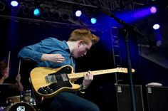Alex Trimble of Two Door Cinema Club performs during the Bonnaroo Music and Arts Festival in Manchester, Tenn.