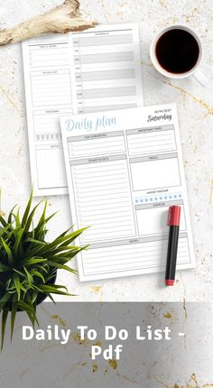 Daily To Do List template can help you focus, stay on top of things and keep track of your activities and manage time effectively. Browse the selection of the best planner templates. Download printable and iPad-friendly PDF to start using it asap. #daily #to-do #planner #template #layout List Template, Planner Template, Templates, Daily Planner Printable, Planner Pages, Goals Planner, Happy Planner, Best Planners