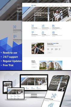 Moto CMS 3 Template , BuildWell - Construction Company Premium