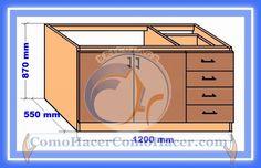 Web del Bricolaje Diseño Diy : Muebles Cocina Plano Mueble Bajo