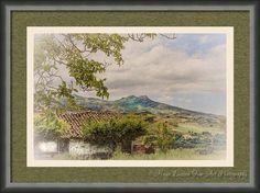 """View of """"Gran Sasso""""  from Vicoli, Abruzzo."""