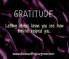 Thankful Thursday - Month of Gratitude » Divas With A Purpose