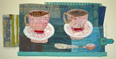 The perfect Cuppa Elaine Hughes, paper and stitches