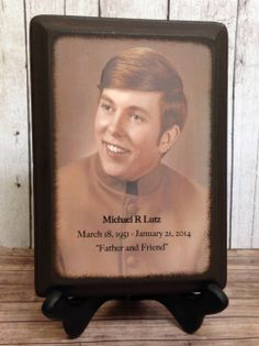 Customized personalized photo frame plaque
