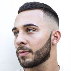 Tape Up Fade with Crew Cut and Beard http://www.99wtf.net/men/best-hairstyles-face-men/