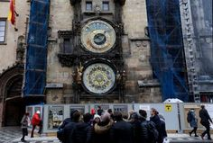 Prague's famed Astronomical Clock, the Orloj, at the Old Town Square this month. - Petr David Josek/Associated Press