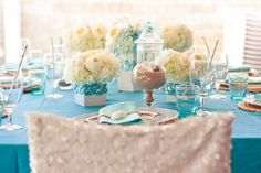 quinceanera under the sea chair covers | Events Inspired by Love: Dazzling Under the Sea Party