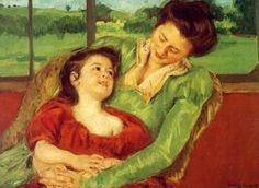 Reine Lefebre and Margot before a Window Mary Cassatt Oil on canvas. American painter but lived her adult life in France and came under the influence of Impressionism especially Edgar Degas. Edgar Degas, Pierre Auguste Renoir, Edouard Manet, Mary Cassatt Art, Women Artist, Mother And Child Painting, Berthe Morisot, Mary I, Impressionist Artists